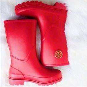 Tory Burch Maureen Rubber Rain Boots